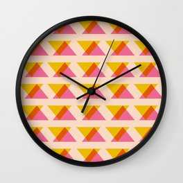 Warm Color Block and Blend  Wall Clock
