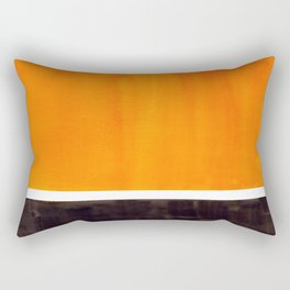 Minimalist Mid Century Modern Color Block Pop Art Rothko Inspired Golden Yellow Black Squares Rectangular Pillow