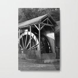 The largest water wheel, Gießenbach Metal Print