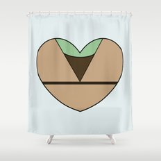 Yoda Character Heart Shower Curtain