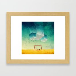 They're Coming (The Cubes) Framed Art Print
