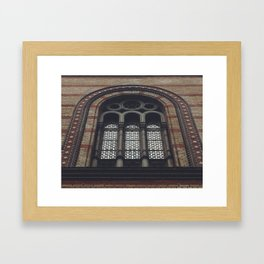 Synagogue Window Framed Art Print