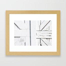 Art Deco White Wooden Gate Framed Art Print