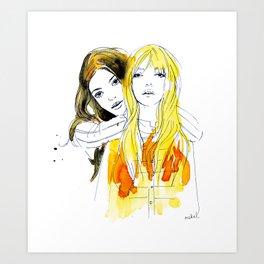 E and Gabrielle Art Print