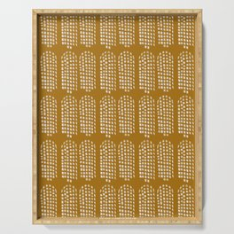 Brushstroke Towers - Gold II Serving Tray