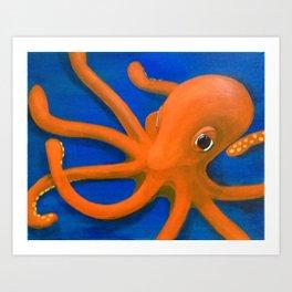 Content as an Octopus Art Print