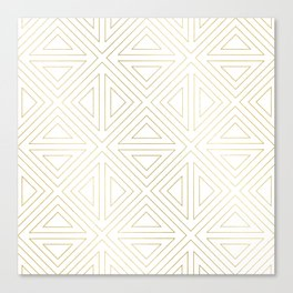 Angled White Gold Canvas Print
