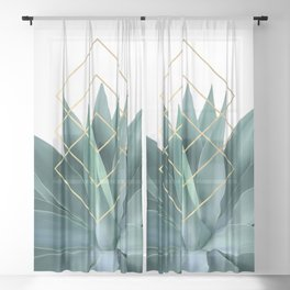 Agave geometrics Sheer Curtain