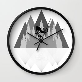 MTB Whip Gray Wall Clock