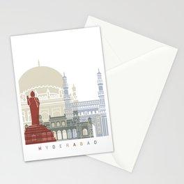 Hyderabad skyline poster Stationery Cards