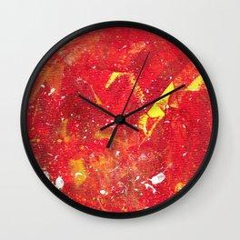 Red Fumes Wall Clock