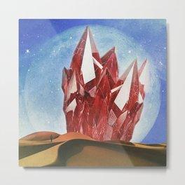 The Crystal Metal Print