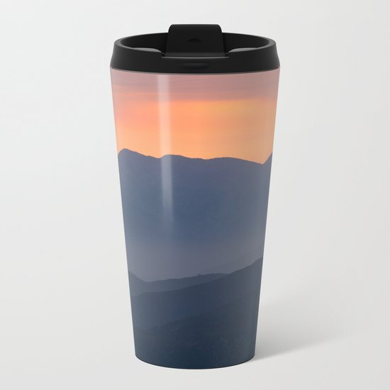 Mountain Sunset II (Big Bear Lake, California) Metal Travel Mug