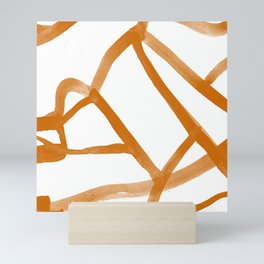 Abstract Map orange Nr. 2 Mini Art Print