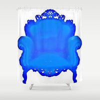 baroque Shower Curtains featuring Baroque  by Xchange Art Studio