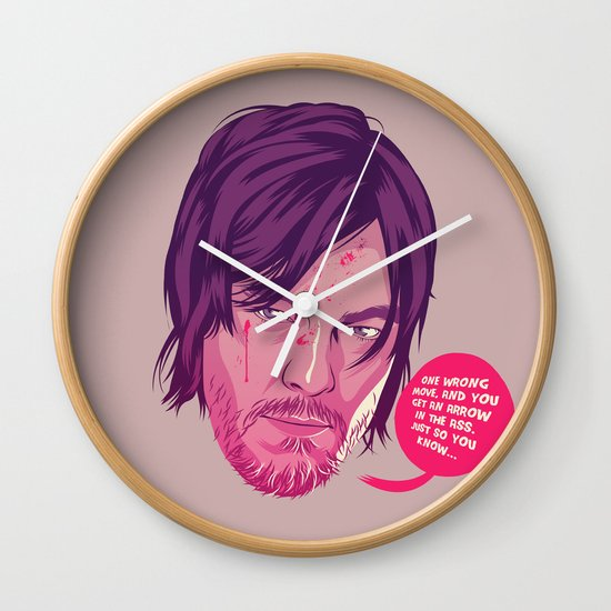 The Walking Dead - Daryl Dixon Wall Clock