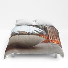 Chicago Bean - Big City Lights Comforters