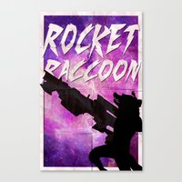 rocket raccoon Canvas Prints featuring Rocket Raccoon by Shelby Breese