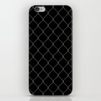 the wire iPhone & iPod Skins featuring Wire Fence by Crazy Thoom