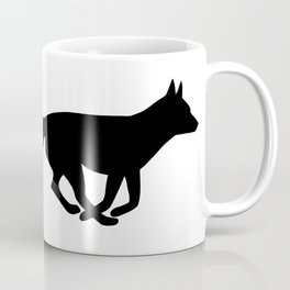 Running Fox Silhouette Coffee Mug