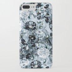 Black Flowers Slim Case iPhone 7 Plus