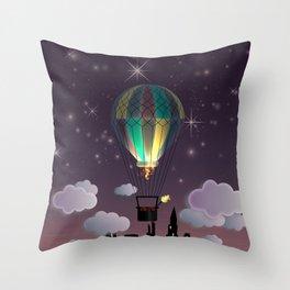 Balloon Aeronautics Night Throw Pillow