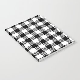 90's Buffalo Check Plaid in Black and White Notebook