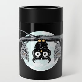 Cute Owl With Friends Can Cooler