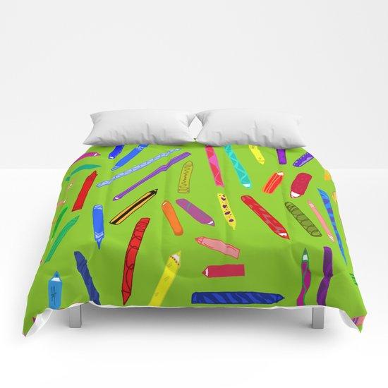 Fun loving crayons Comforters