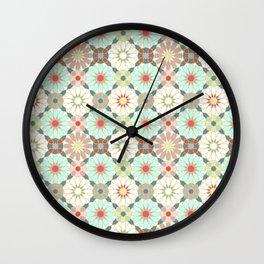moroccan light zellij Wall Clock