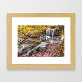 Autumn Falls of Tanyard Creek - Bella Vista Arkansas Framed Art Print