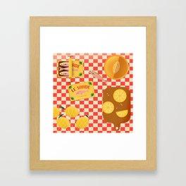 Still Life Sardines Framed Art Print