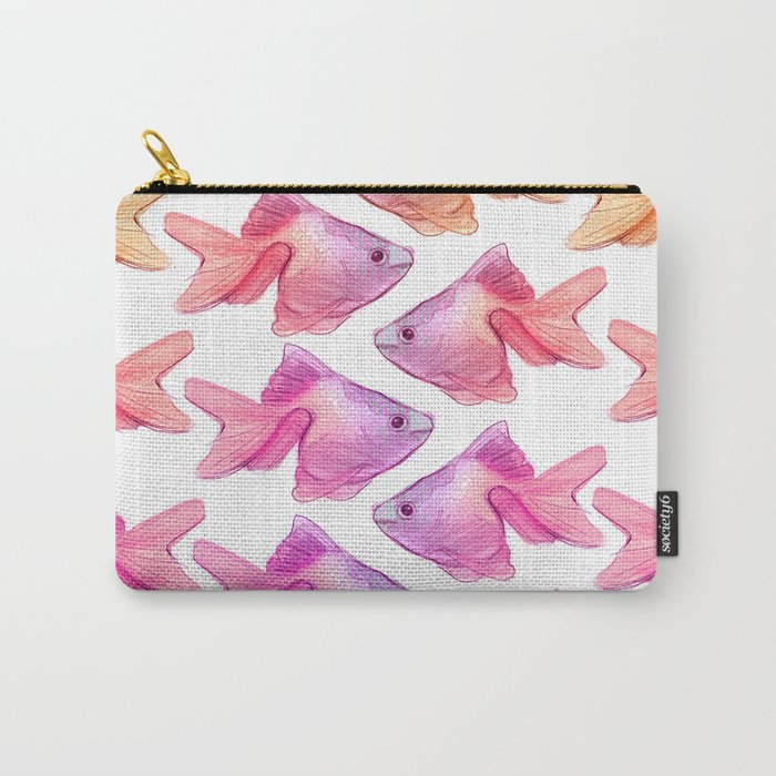 Fish Watercolor Carry-All Pouch