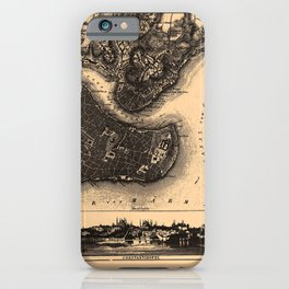 Iconographic Encyclopedia of Science, Literature and Art (1851) - Map of Constantinople iPhone Case