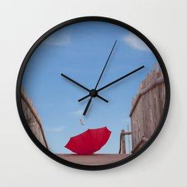 Lost umbrella  Wall Clock