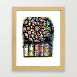 Bourges Cathedral Rose Framed Art Print