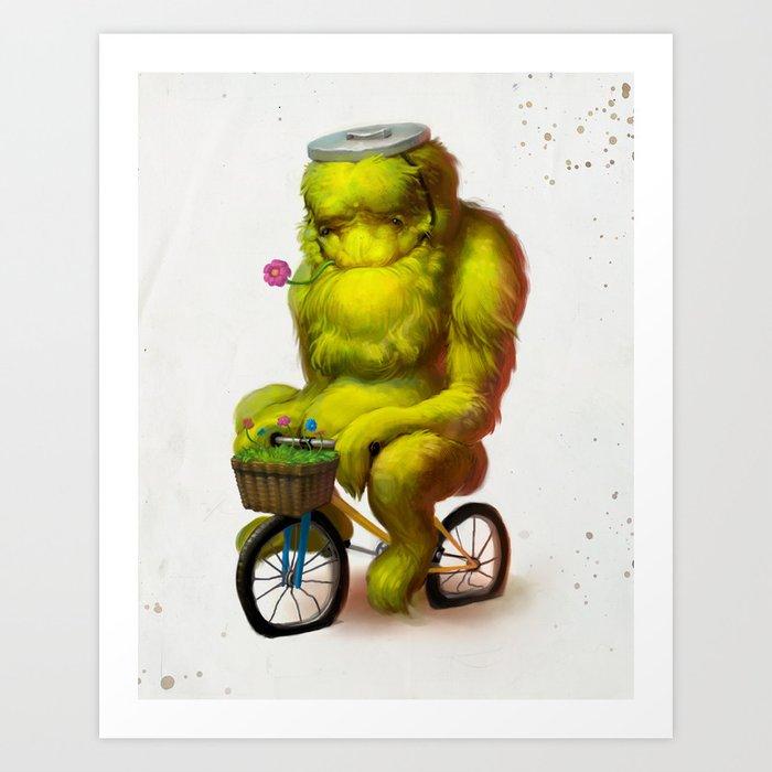 Bike Monster 1 Art Print