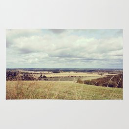 Rural hilly landscape. Rug