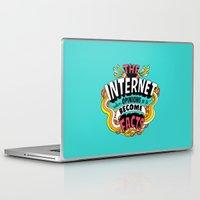 internet Laptop & iPad Skins featuring The Internet. by Chris Piascik