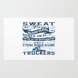 Trucker Woman Rug