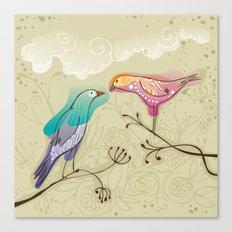 couple of beautiful love birds Canvas Print