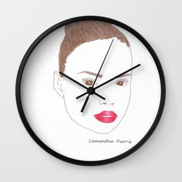 Samantha Harris Wall Clock