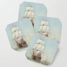 Vintage Ship Art Coaster