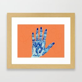 a string of hope please Framed Art Print