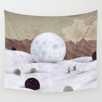 the moon Wall Tapestries featuring Moon by Matthias Leutwyler