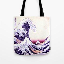 The Great wave purple fuchsia Tote Bag