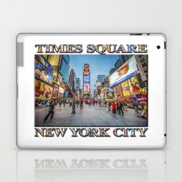 Times Square Sparkle (with typography) Laptop & iPad Skin