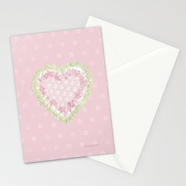 delicate heart  Stationery Cards