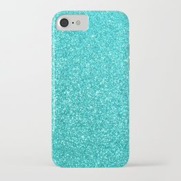 Aqua Blue Glitter iPhone Case