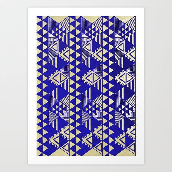 Ethnic Indigo Art Print